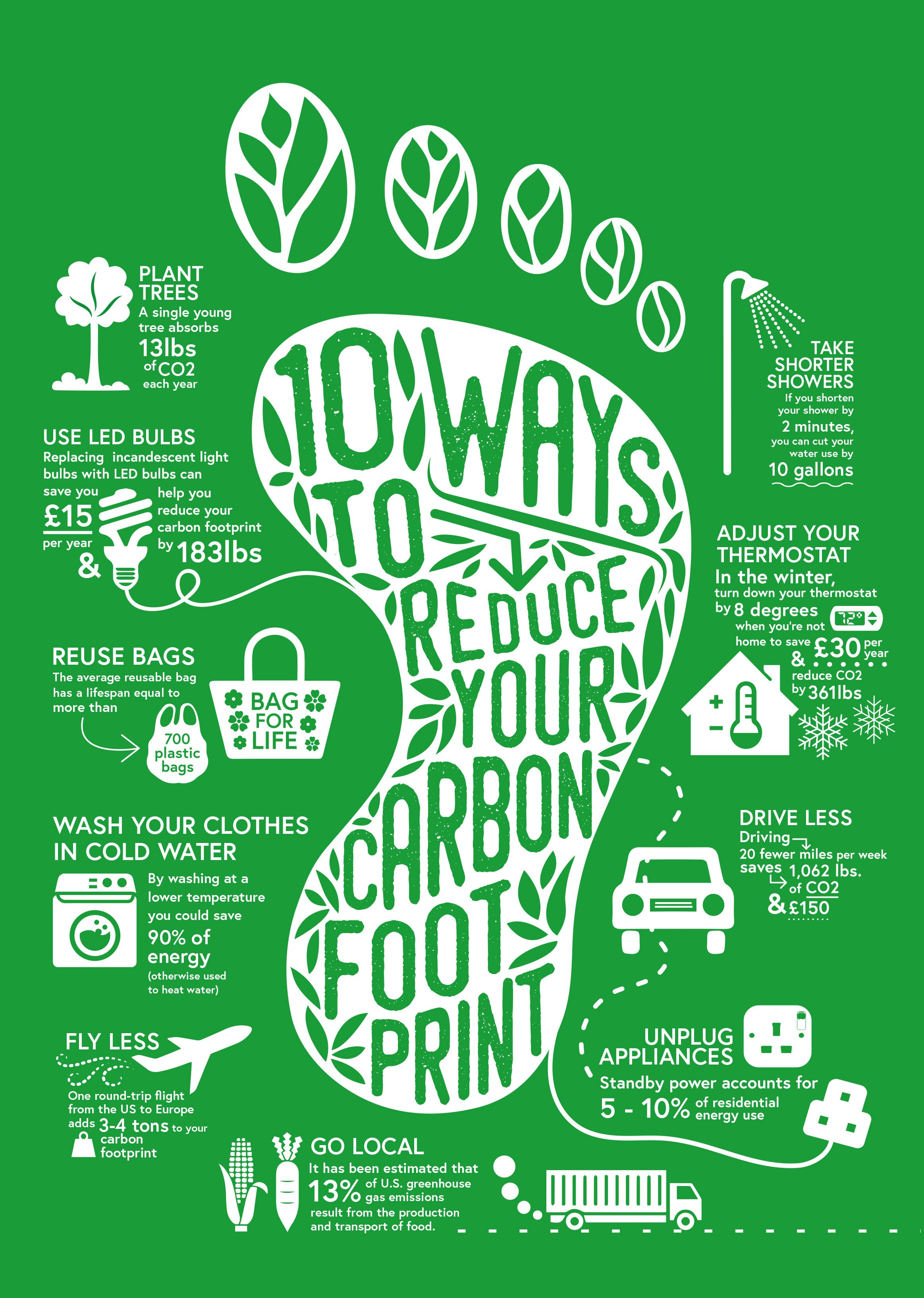 What Can You Do To Reduce Your Carbon Footprint In 2020 Carbon Footprint Footprint Poster Environmental Awareness