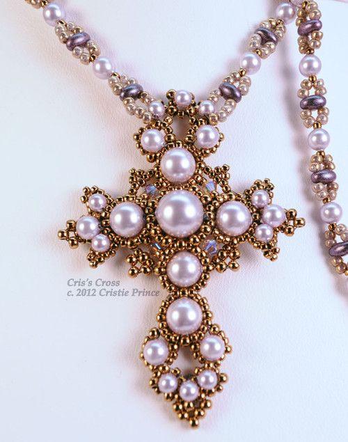 Cris\'s Cross Pattern   Basteln mit Perlen, Perlen häkeln und Perlen