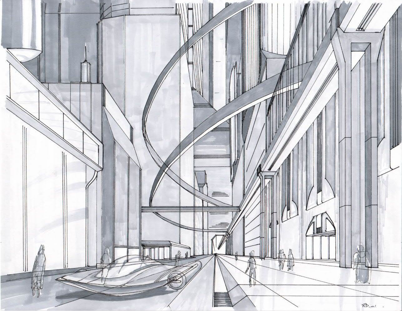 Viewer Request: Drawing New York City - 2 Point ... |City Building Sketches