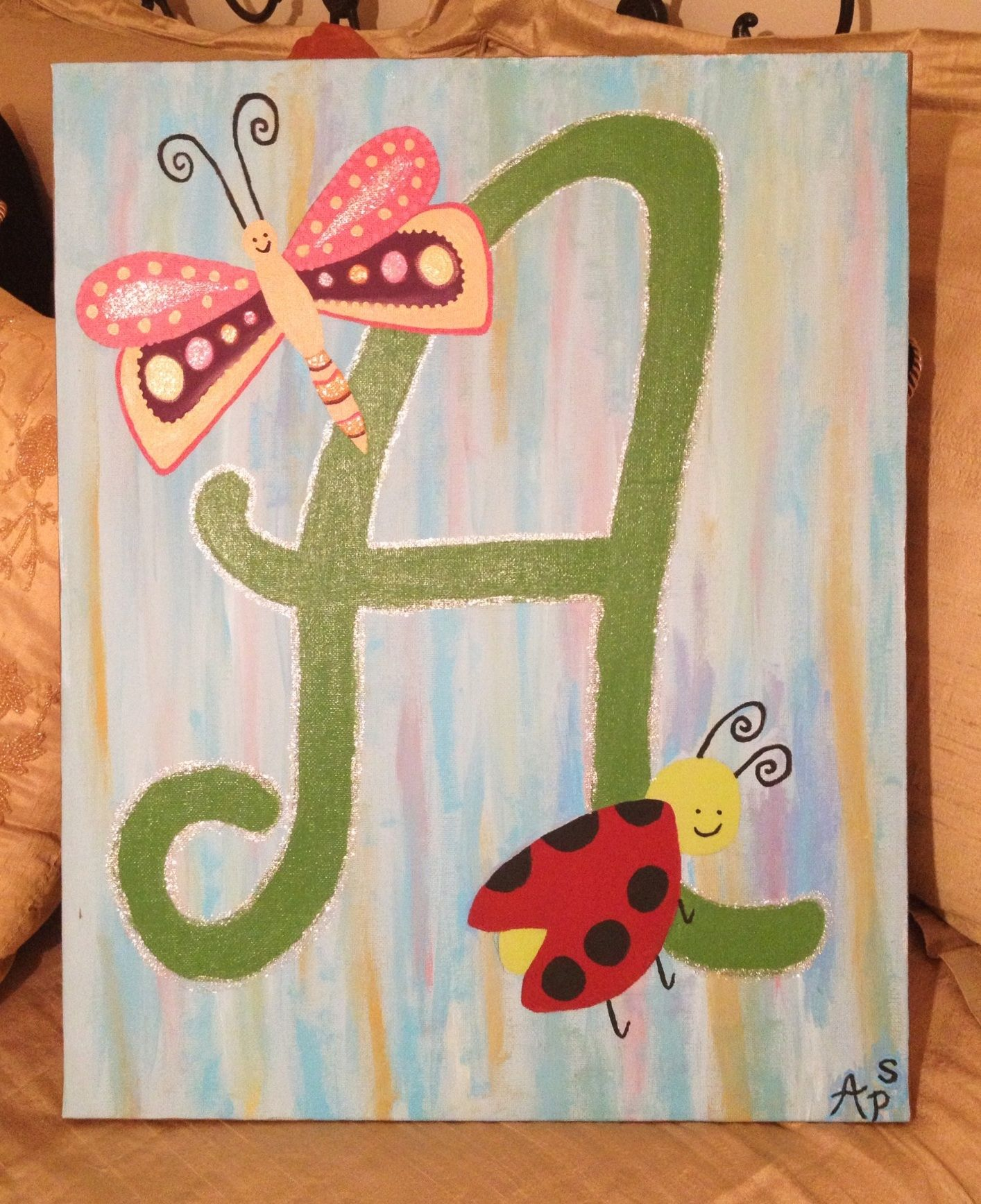 Painting On Canvas For Kids Room Made It For My Friends Daughter