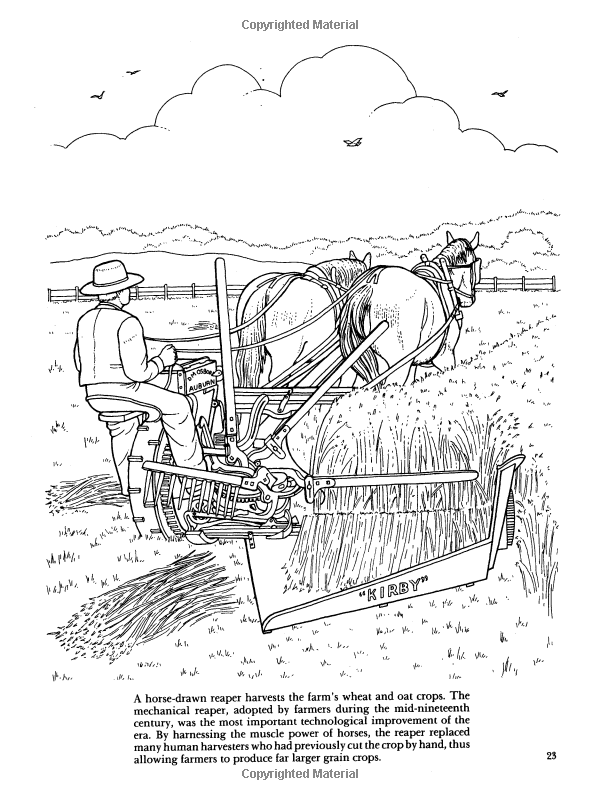 Old Fashioned Farm Life Colouring Book Nineteenth Century