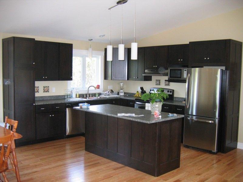 White Kitchen Cabinets Espresso Island maple espresso kitchen cabinets | roselawnlutheran