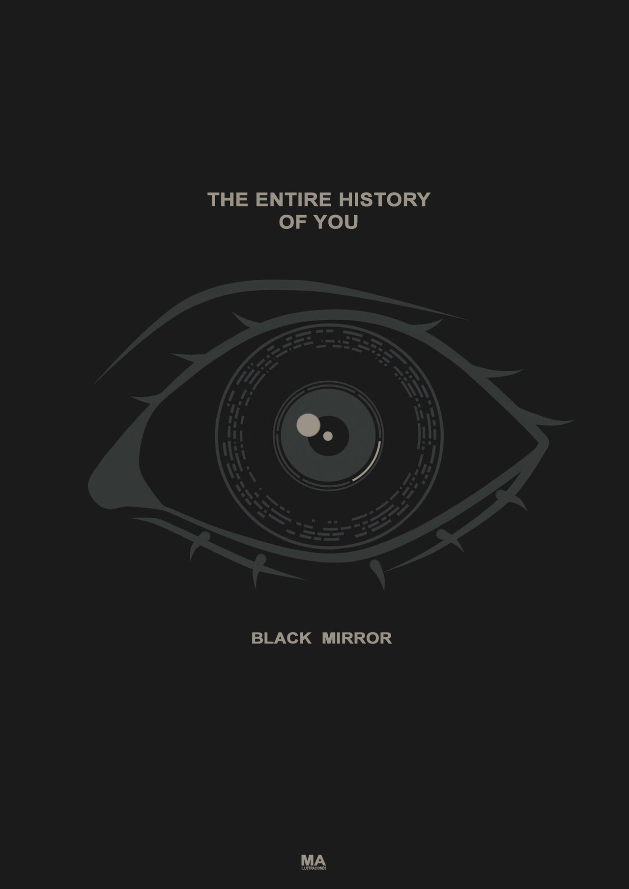 Ma Black Mirror Season 1 Poster The Entire History Black Mirror Mirror Quotes Mirror Illustration