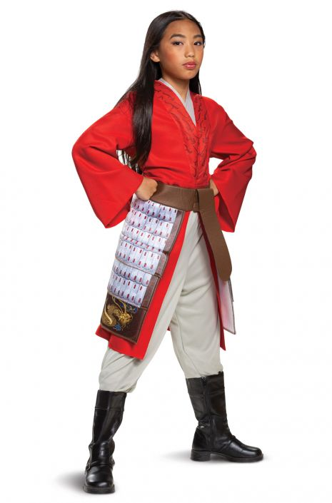 Mulan Hero Red Dress Deluxe Child Costume In 2020 Red Costume Hero Costumes Kids Costumes