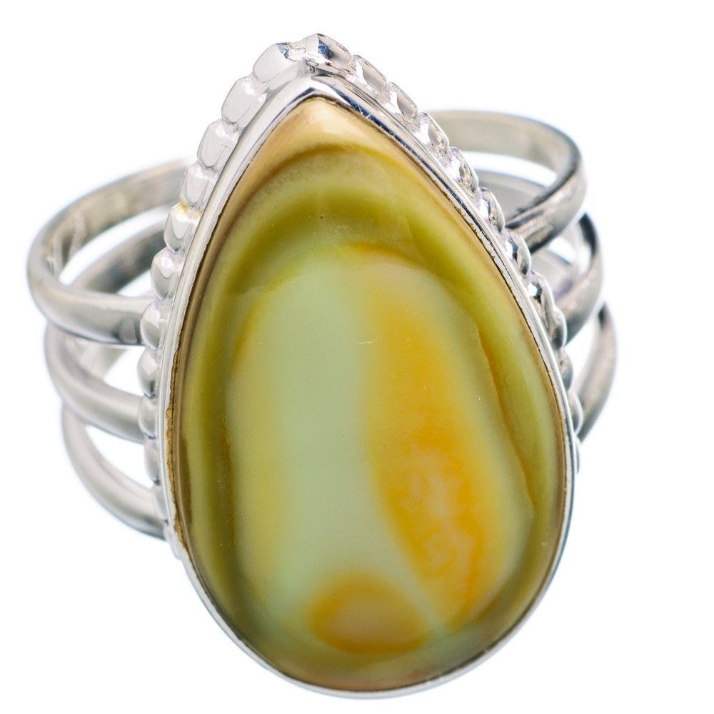 Imperial Jasper 925 Sterling Silver Ring Size 8.75 RING698262