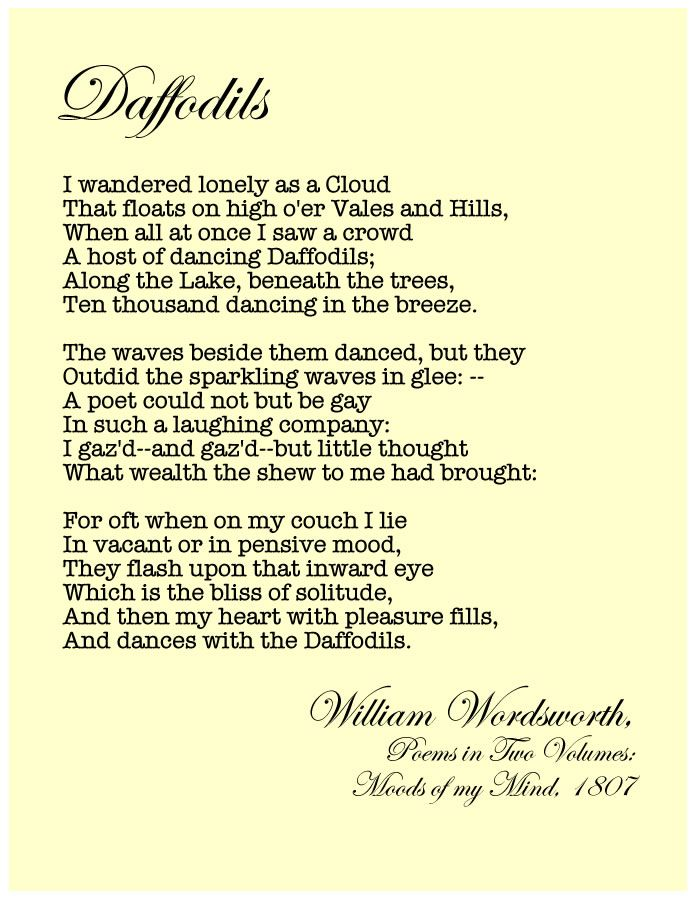 William Wordsworth William Wordsworth Poems Poems