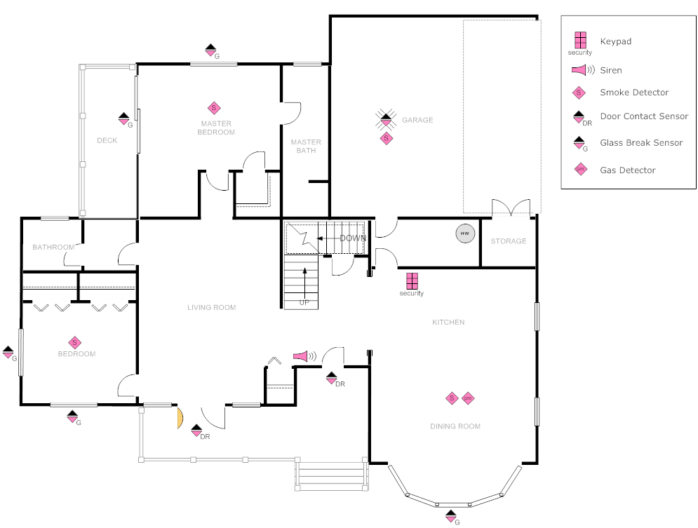 Example Image House Plan With Security Layout My House Plans Restaurant Floor Plan House Plans