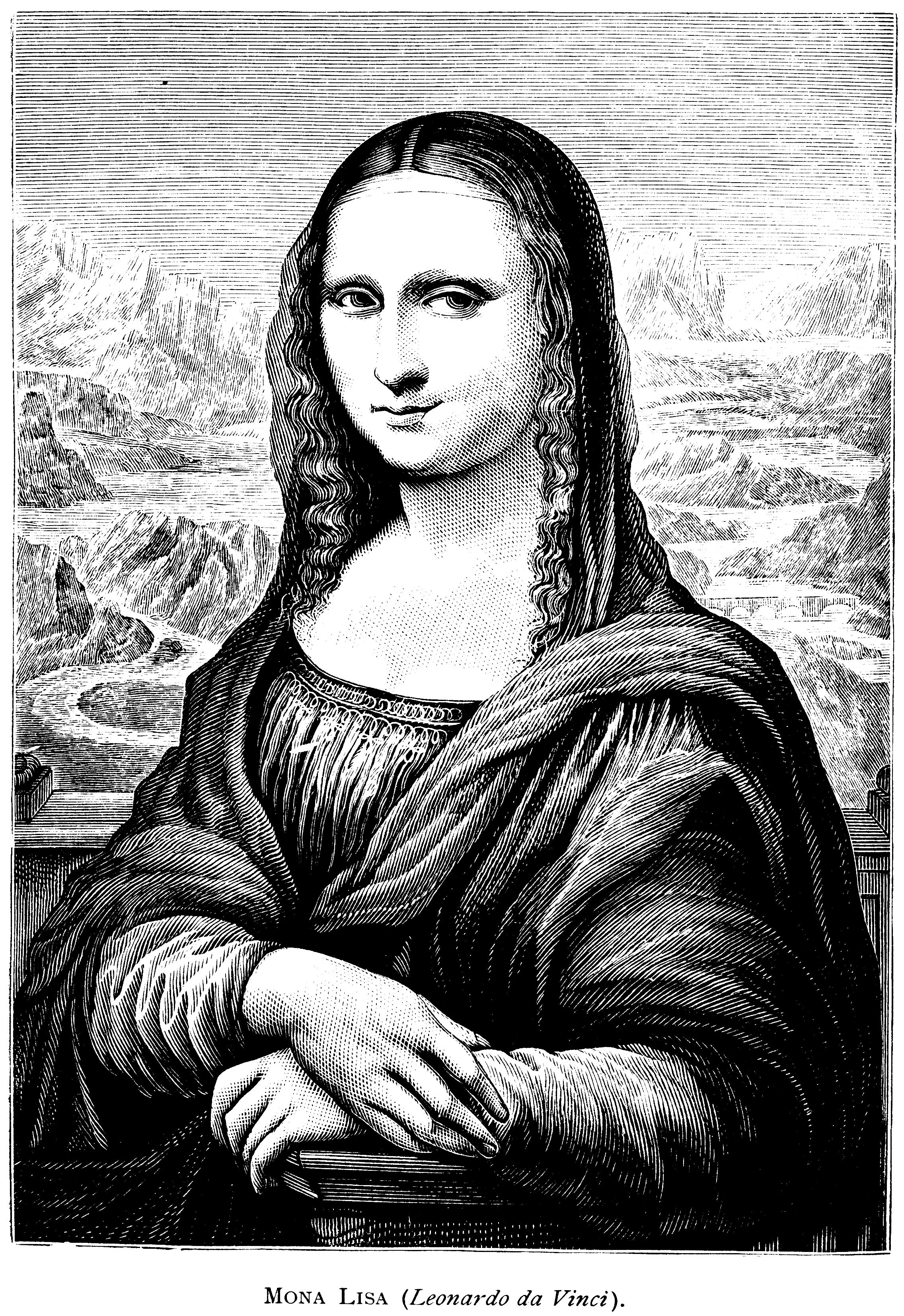 Luxury Mona Lisa Coloring Page 25 | Craft Projects For Kids | Pinterest