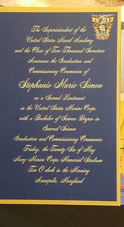 USNA Graduation Announcement example   USNA theme party
