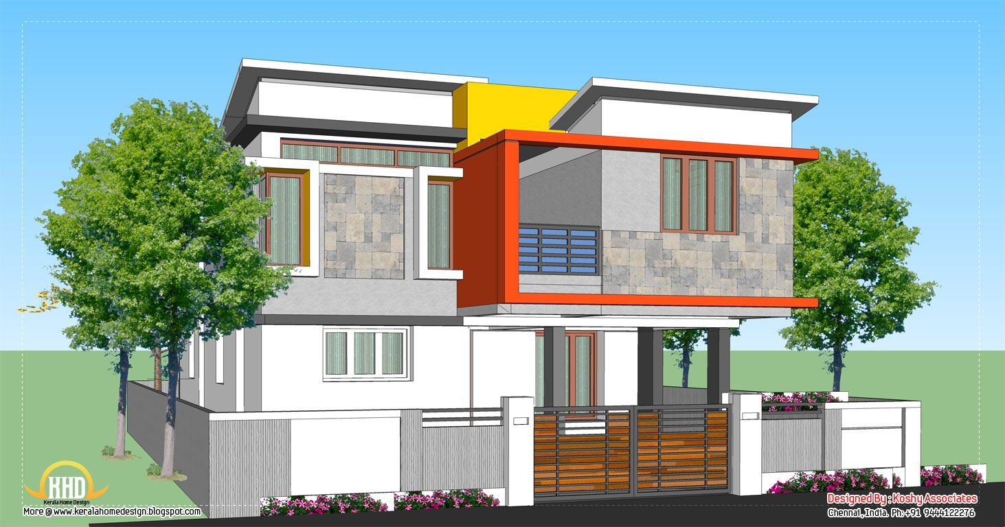 Modern House Design 1809 Sq Ft 168 Sq M 201 Square Yards March 2012 Kerala House Design Unique Small House Plans House Plans With Pictures