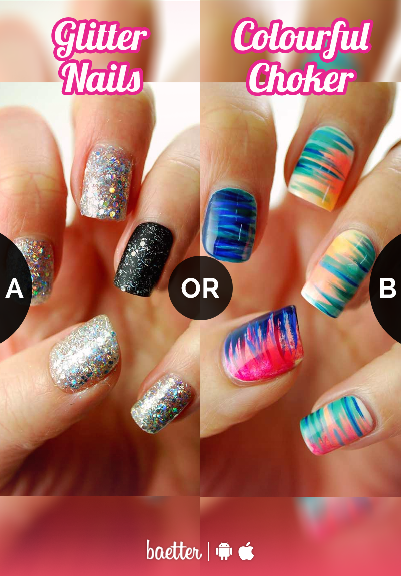 Which is the perfect nail design for you #GlitterNails or