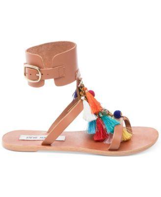 c1910d800527 Steve Madden Women s Colorful Tassel Sandals - Brown 5.5M