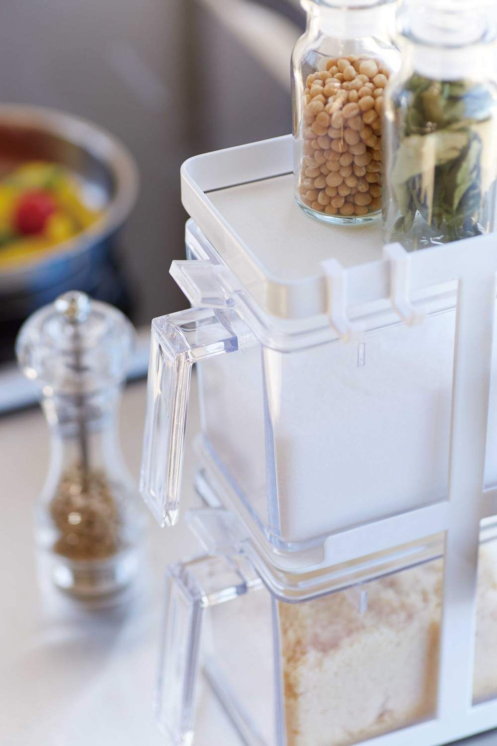 Salt And Sugar Containers With Vertical Rack 2 Containers In