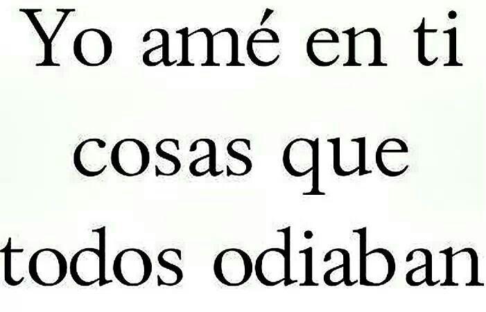 Yo amé en ti...