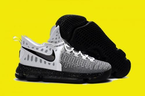 new products 646d2 7bb55 2016 Nike KD 9 Oreo White and Black-White 843392-100 For Sale
