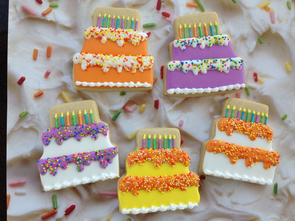 Wondrous Birthday Cake Cookies With Images Birthday Candle Cookies Personalised Birthday Cards Paralily Jamesorg