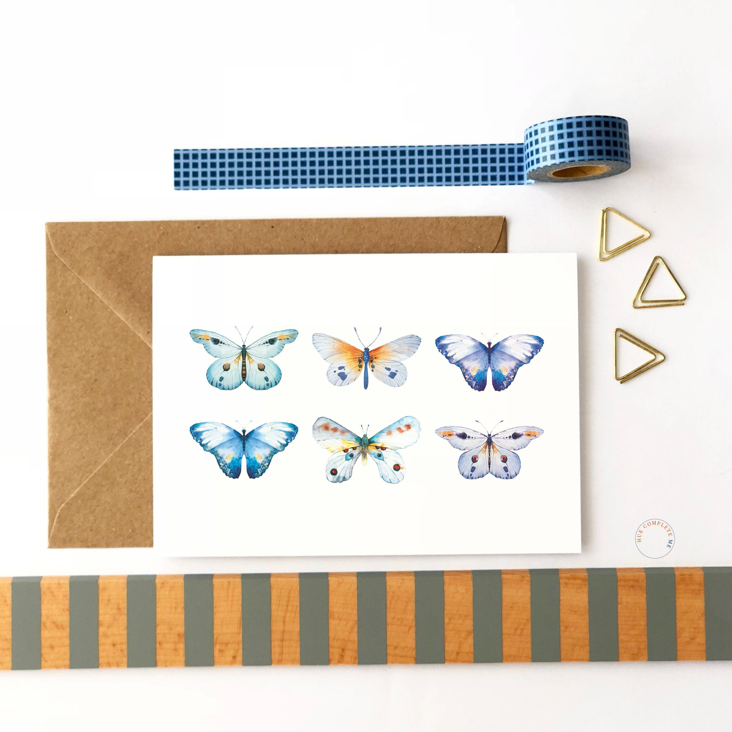 Today butterfly card blank greeting card anytime card grandma