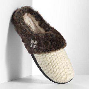 Simply Vera Vera Wang Knit Faux-Fur