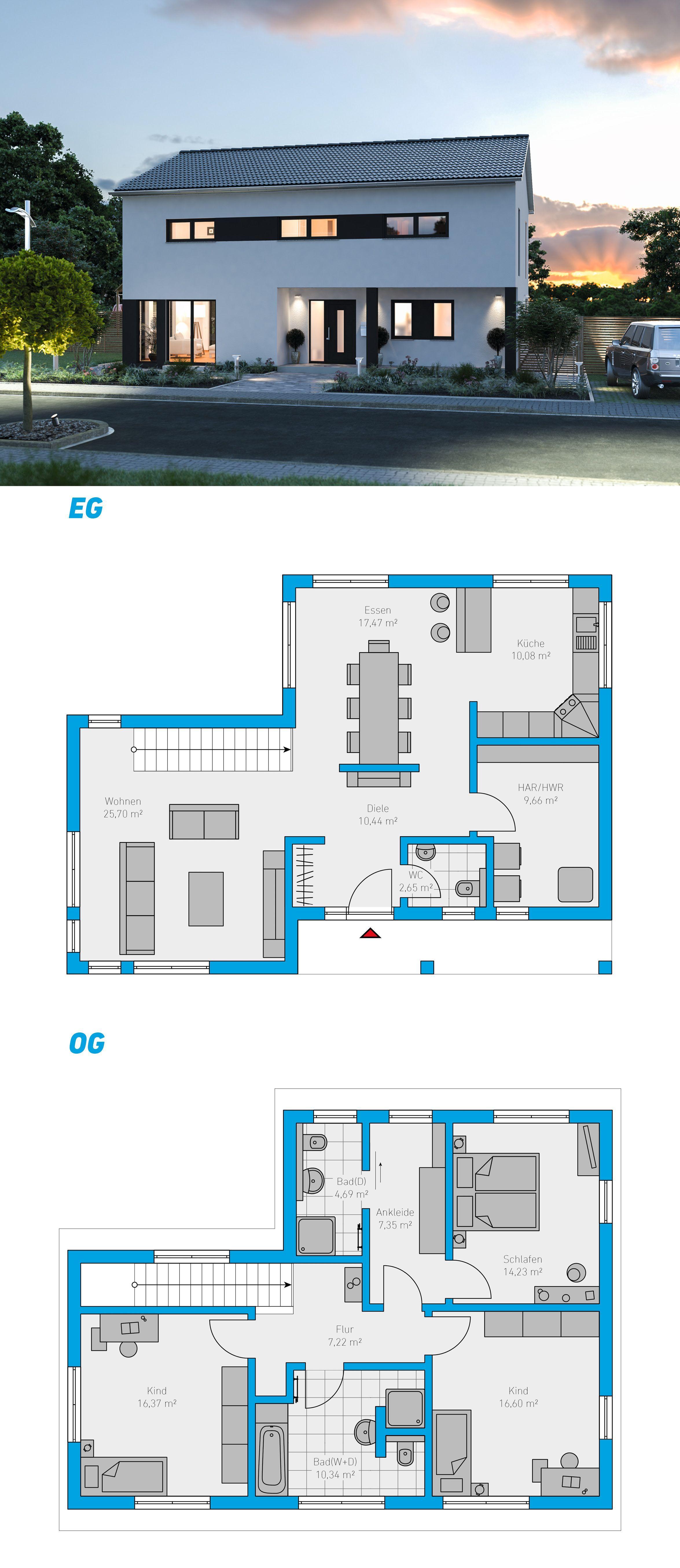Edita 153 Schlusselfertiges Massivhaus 2 Stockiges Spektralhaus Ingutenwa Bildungsarchitektur House Architecture Design Architecture House Countryside House