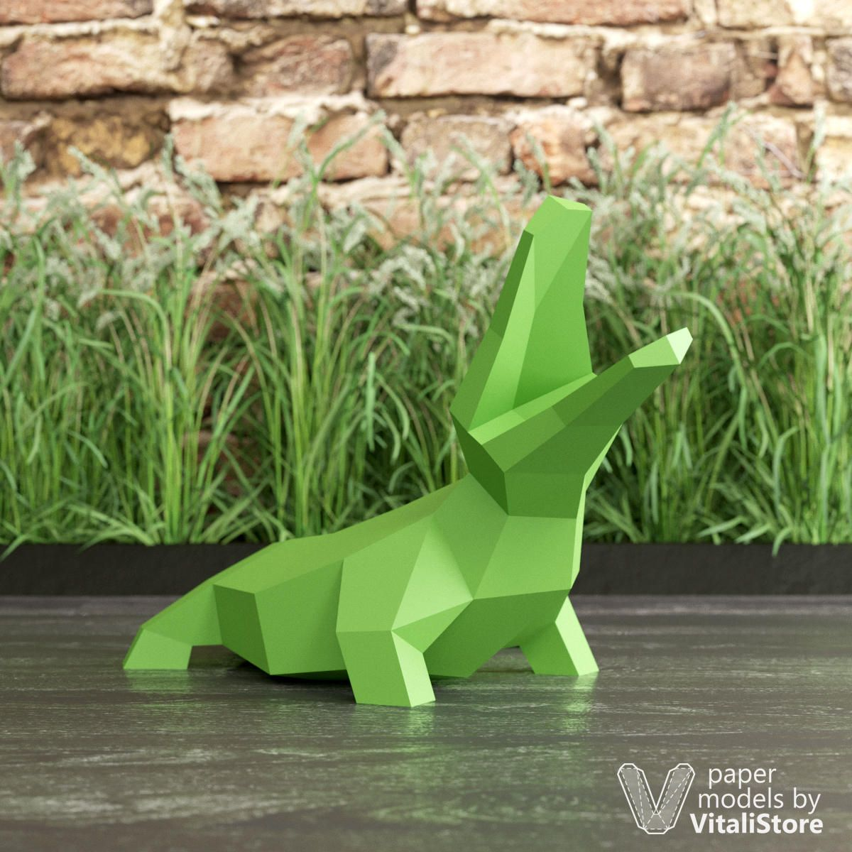 Alligator Papercraft, 3D Papercraft Crocodile, DIY Home