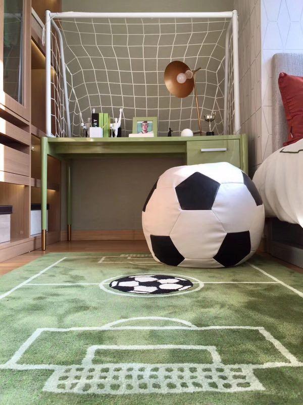 astounding soccer bedroom ideas | Football-themed bedroom interior in 2019 | Boys football ...