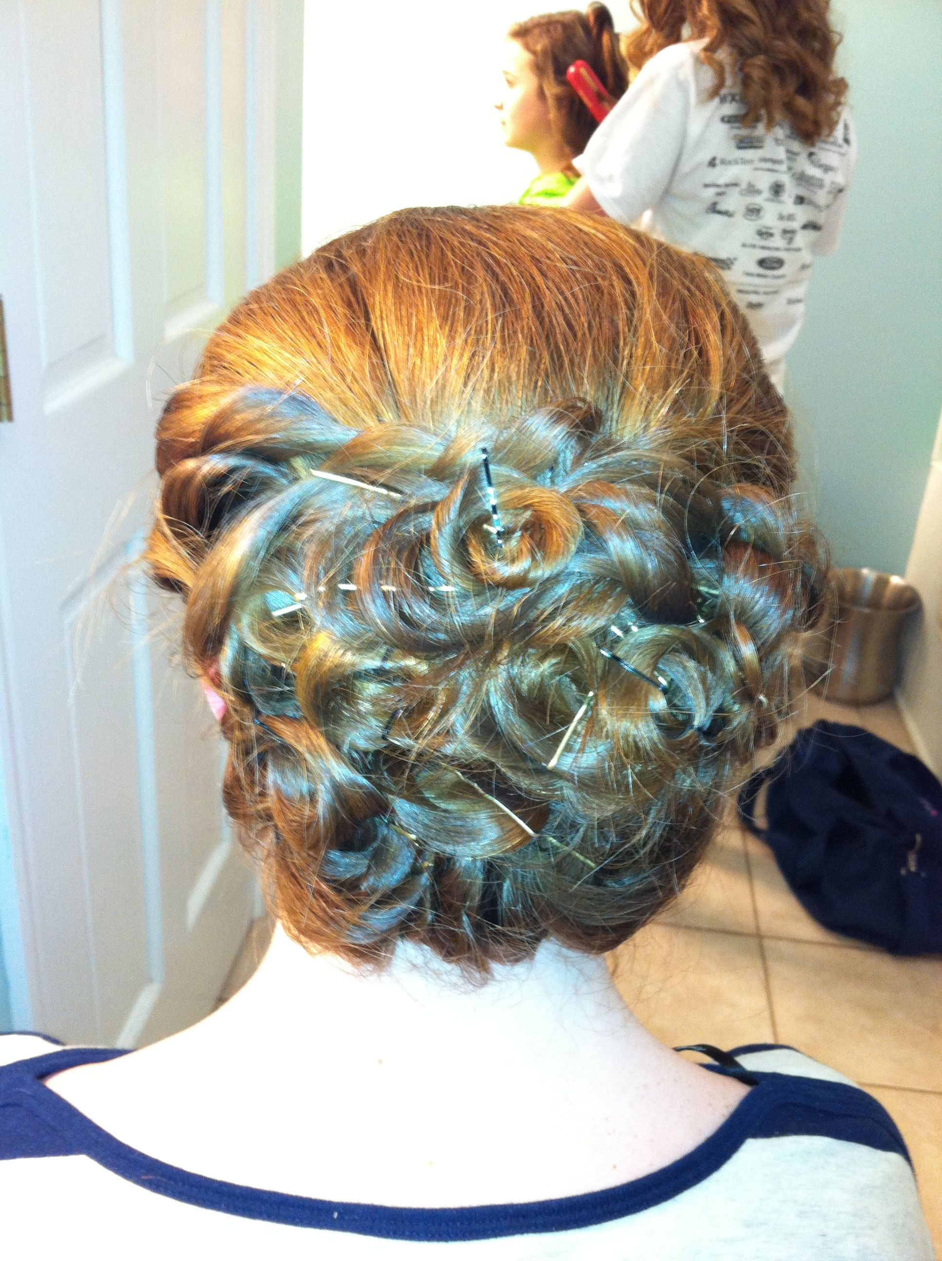 Cute middle school dance updo took around hr mins and some
