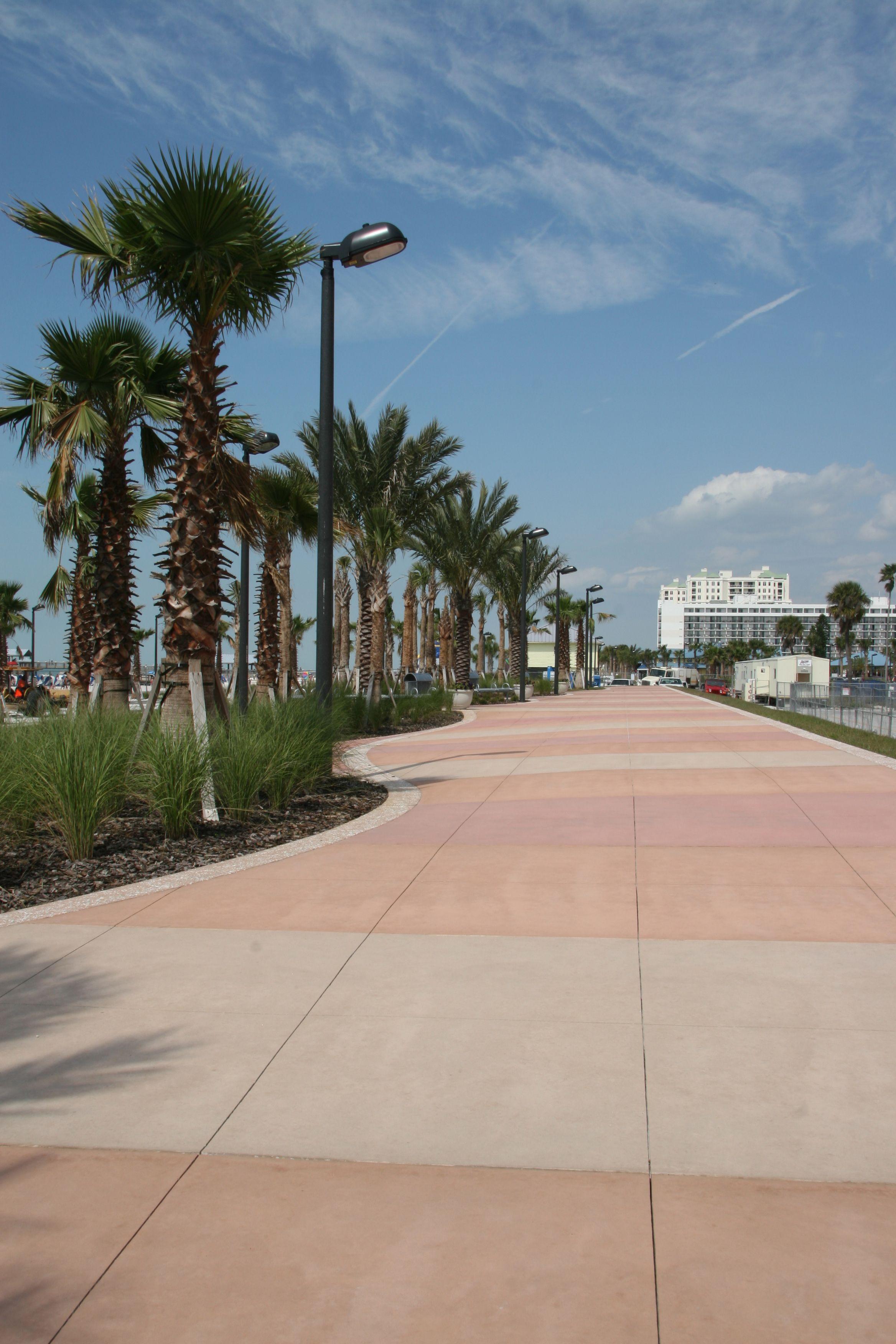 Beach Walk Promenade In Front Of Clearwater Beach. Photo
