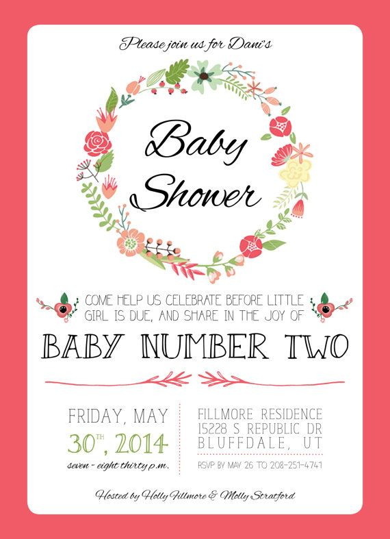 Floral and Bright Spring Baby Shower Invitation for by ManionAmor - baby shower program template