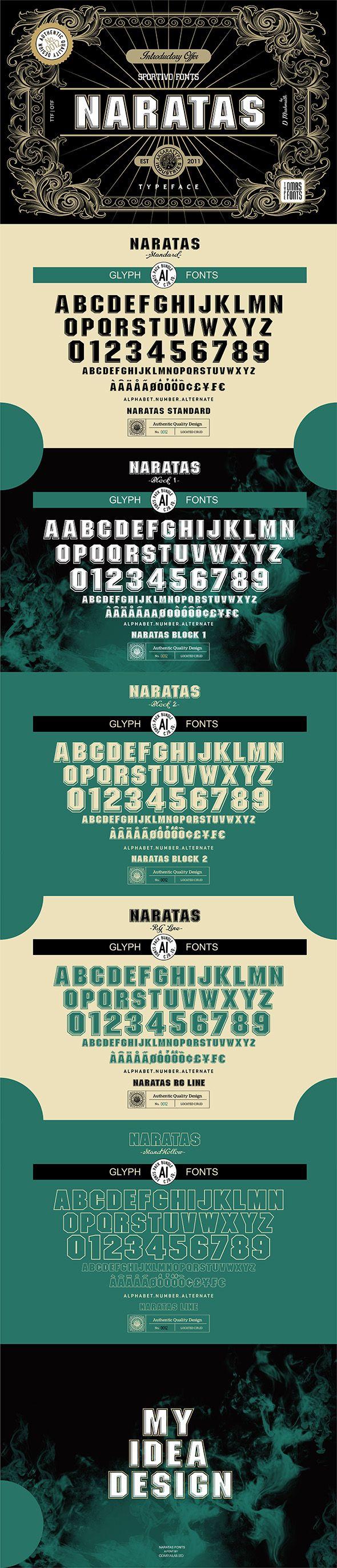 Naratas Fonts In 2020 Logo Design Font Art Glyph Font