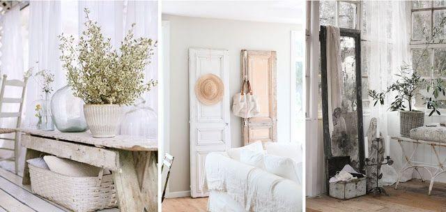 shabby chic style déco décoration chambre salon brocante vintage ...
