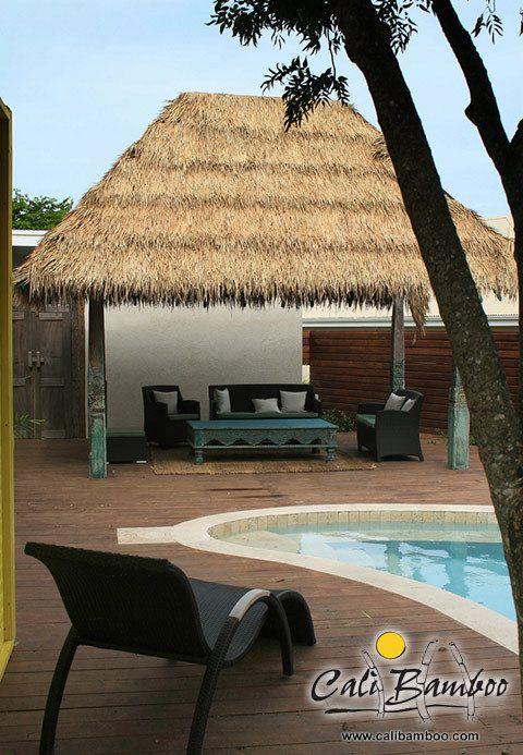 Palm Thatch Photos in 2020 | Tiki hut, Outdoor tiki bar ...