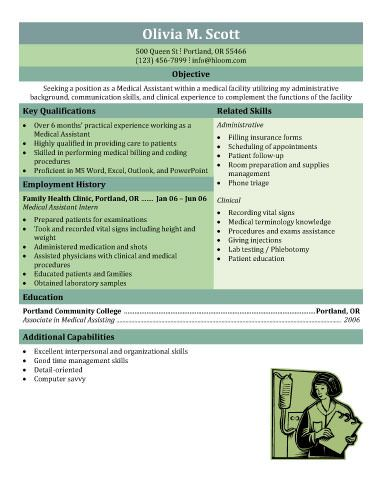 Download Free Medical Assistant Resume templates Browse for - internship resume templates