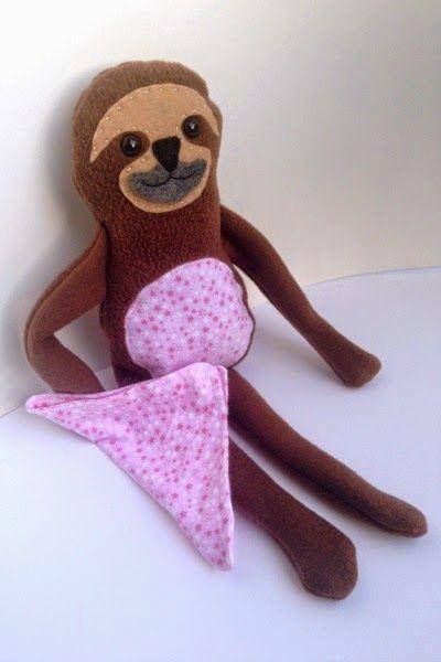 Soft Toy - Cutest Little Sloth Blankie Buddy (Sew Pretty Sew Free ...