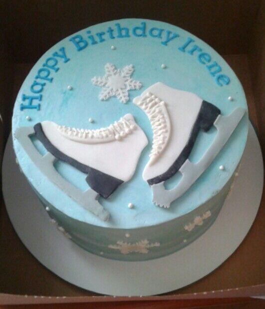 Ice Skating Cake Ice Skating Cake Party Cakes Cupcake Cakes