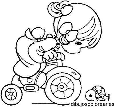 Nina En Bici Precious Moments Coloring Pages Embroidery Patterns Free Coloring Pages