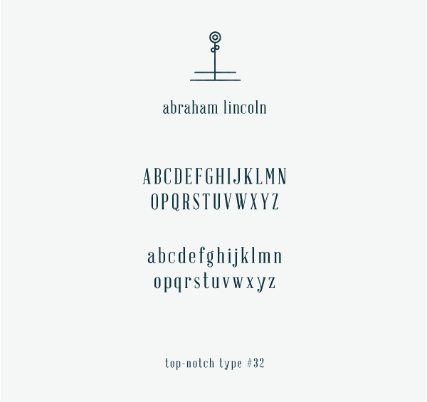 font: Abraham Lincoln by Frances Macleod | typography and design ...