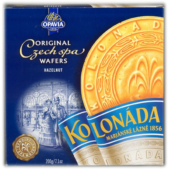 Kolonáda Original Czech Spa Wafers - Hazelnut -- order from www.slovczechvar.com