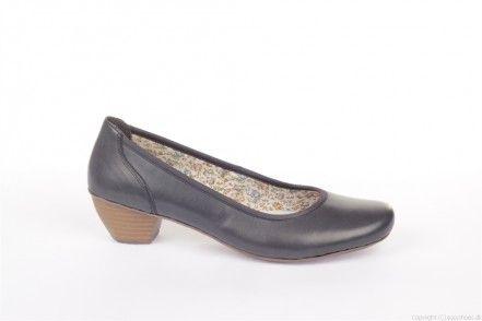 Denne yderst stilsikre og klassiske pumps fra Riekers har mange forskellige egenskaber! Det klassiske design og den flotte blå farve gør, at skoen let kan mikses med alt fra kjoler, nederdele og bukser. Farven gør at du kan mikse det med alt fra de helt mørke farver til den helt lette lyse sommerkjole! På grund af dens klassiske udseende og stilrene facon kan denne sko bruges til alt fra arbejdssituationer