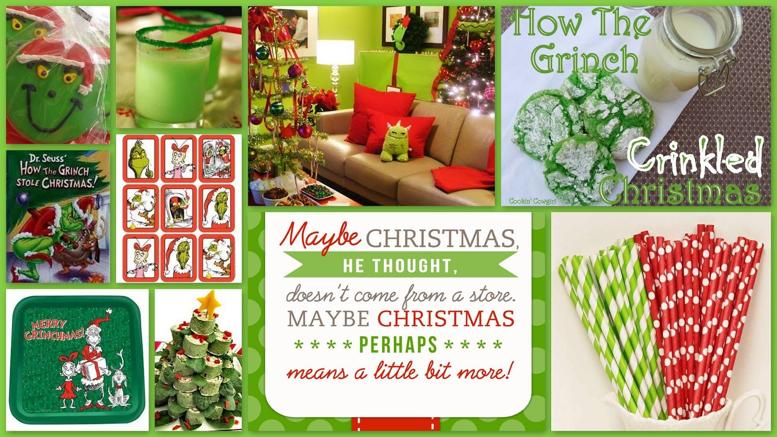 joyously domestic grinch themed december movie night party
