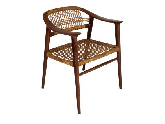 Bambi Teak And Cane Dining Chair By Rastad Relling