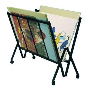 poster rack flip through black