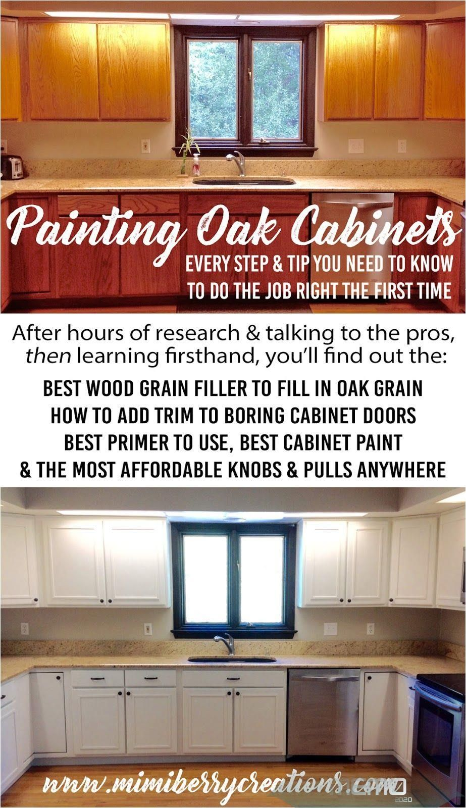 Feb 11 2018 Painting Oak Cabinets Does Not Need To Be Intimidating Anymore Find Out Every Product Painting Oak Cabinets Cheap Kitchen Cabinets Oak Cabinets