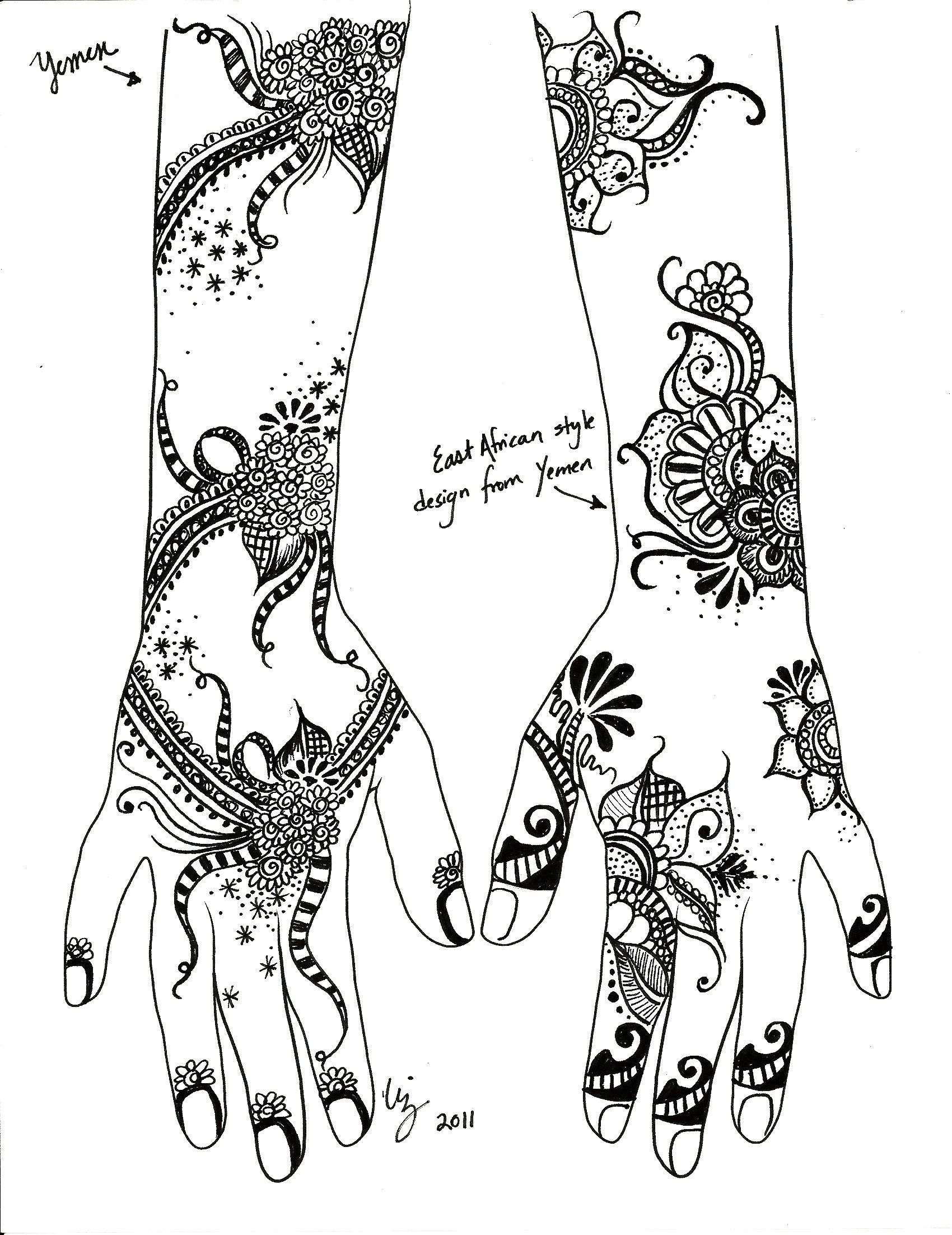 Henna Hut Henna Tattoo Designs Zentangle Coloring Henna