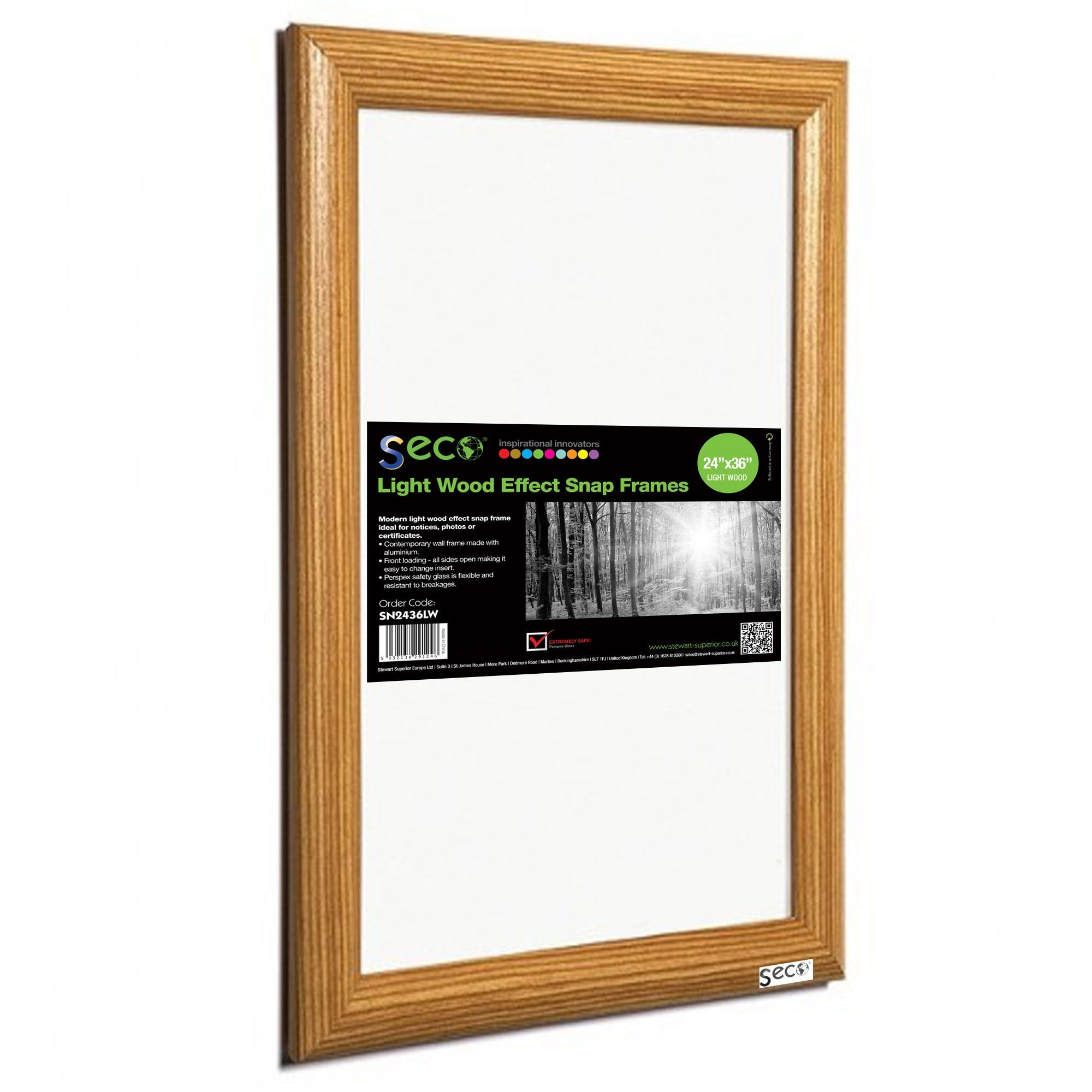 Seco SN2436LW 24-inch x 36-inch Front-load Easy Open-snap Poster ...