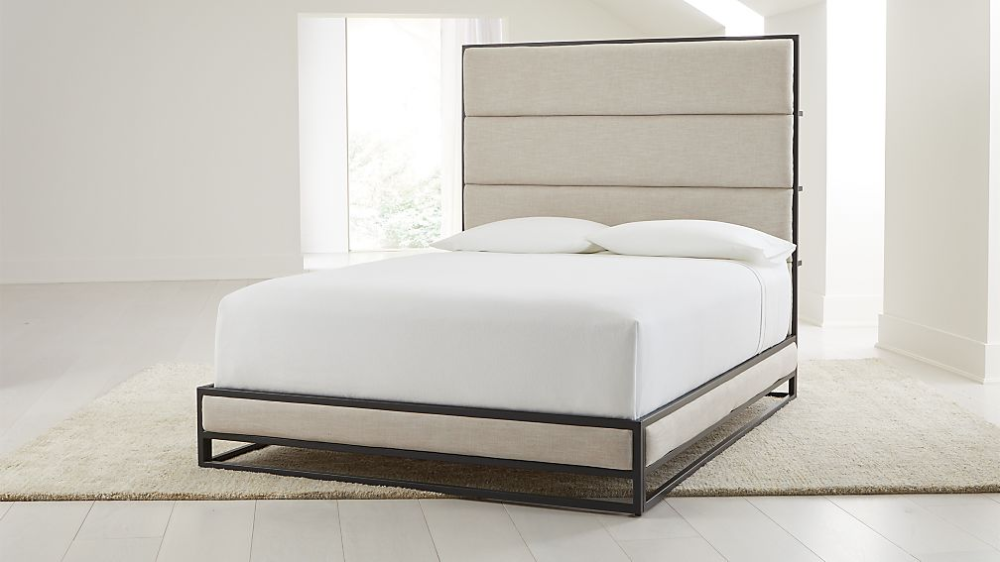 Oxford Ivory Upholstered Bed Crate And Barrel Upholstered Beds