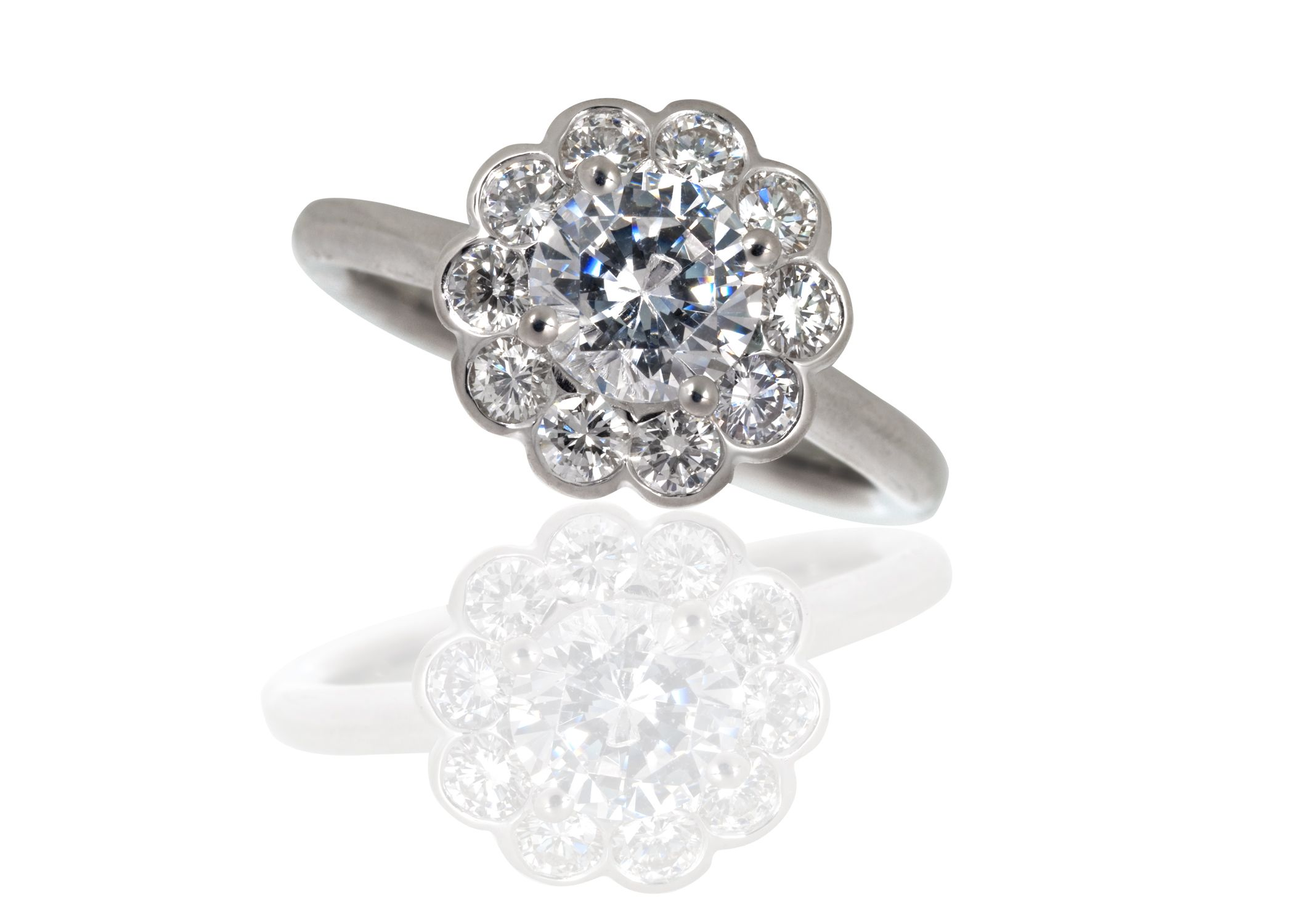 pin cluster jewelry rings pinterest daisy engagement diamond ring
