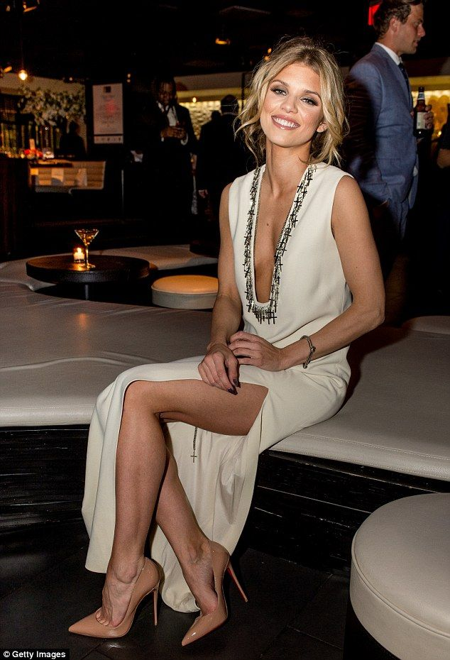 Speaking her mind: McCord, pictured at The Creative Coalition's Night Before Dinner in Washington, D.C. last week, defended the off-white dress she wore to the event