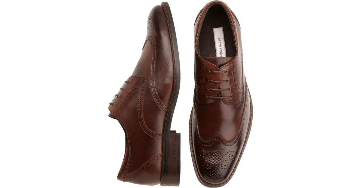 Buy a Joseph Abboud Brown Wingtip Lace-Up Shoes and other Dress Shoes at Men's Wearhouse. Browse the latest styles, brands and selection in men's clothing.