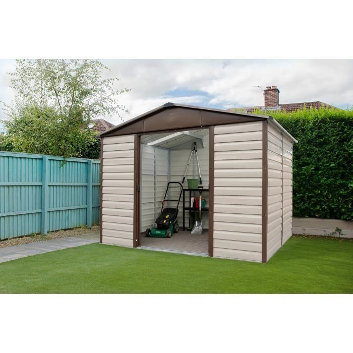Photo of YARDMASTER Metal garden shed 4,79m² – Krem og brun