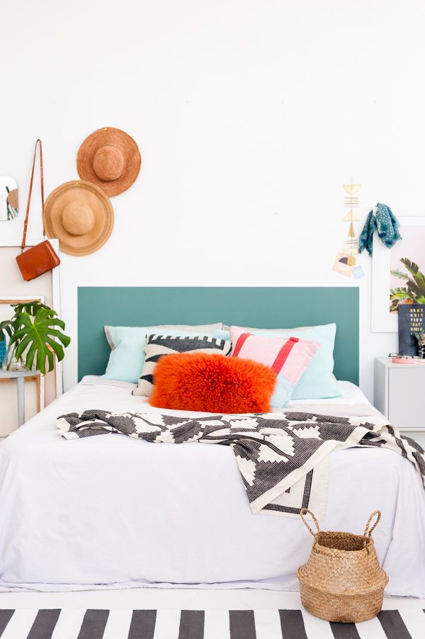 A clever do it yourself headboard in 60 minutes or less solutioingenieria Gallery